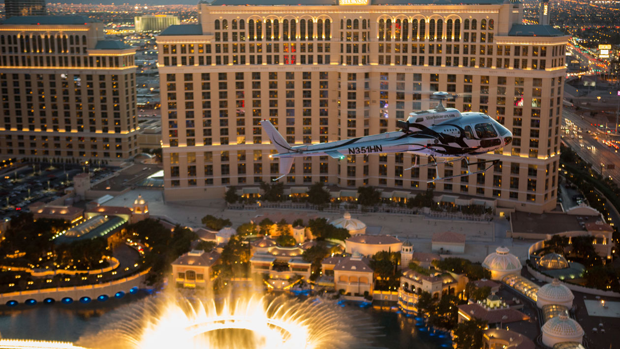 CityCenterSlide Bellagio Fountains Aircraft Image