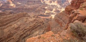 Grand Canyon and Colorado River view from West Rim