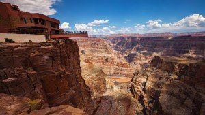 Skywalk bridge experience view of Grand Canyon and Colorado River