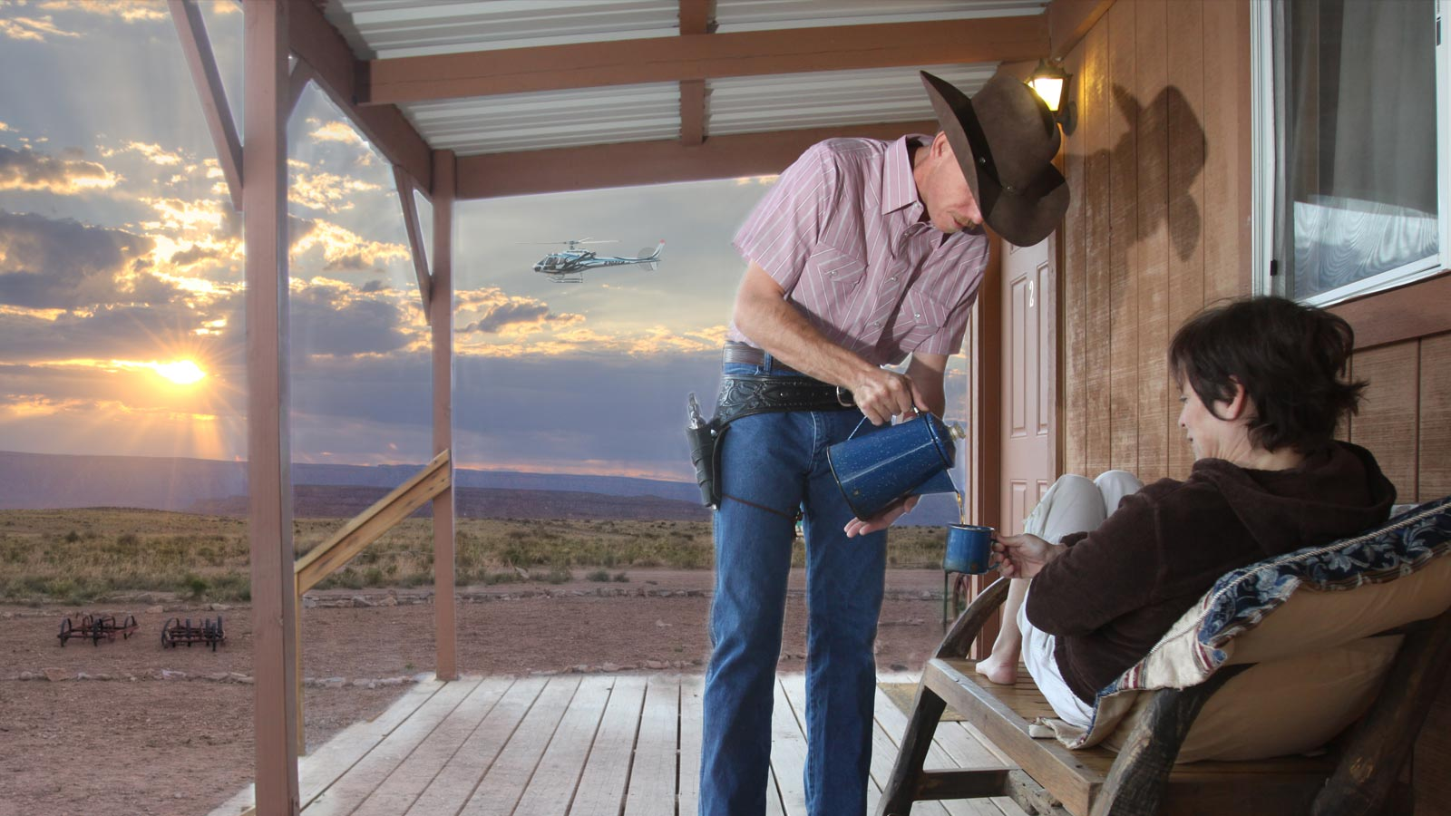 Grand Canyon West Hualapai Ranch Overnight Cabin Stay by Helicopter & Ground Tour – $699