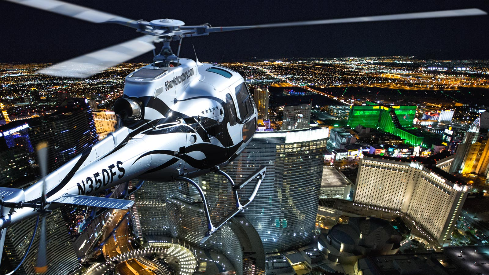 Las Vegas VIP Night Strip Helicopter Flight – $149