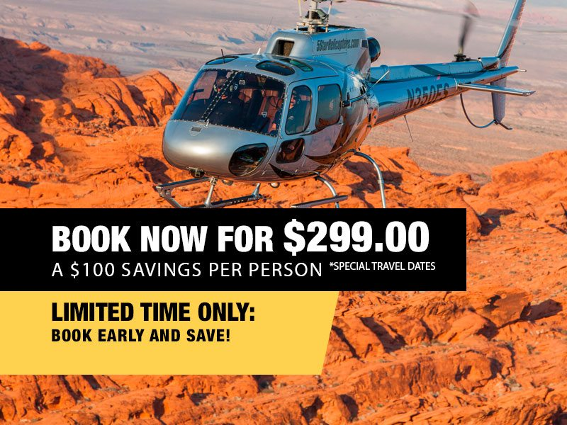 Extended Grand Canyon Helicopter Air Tour Retail Package Value $399.00