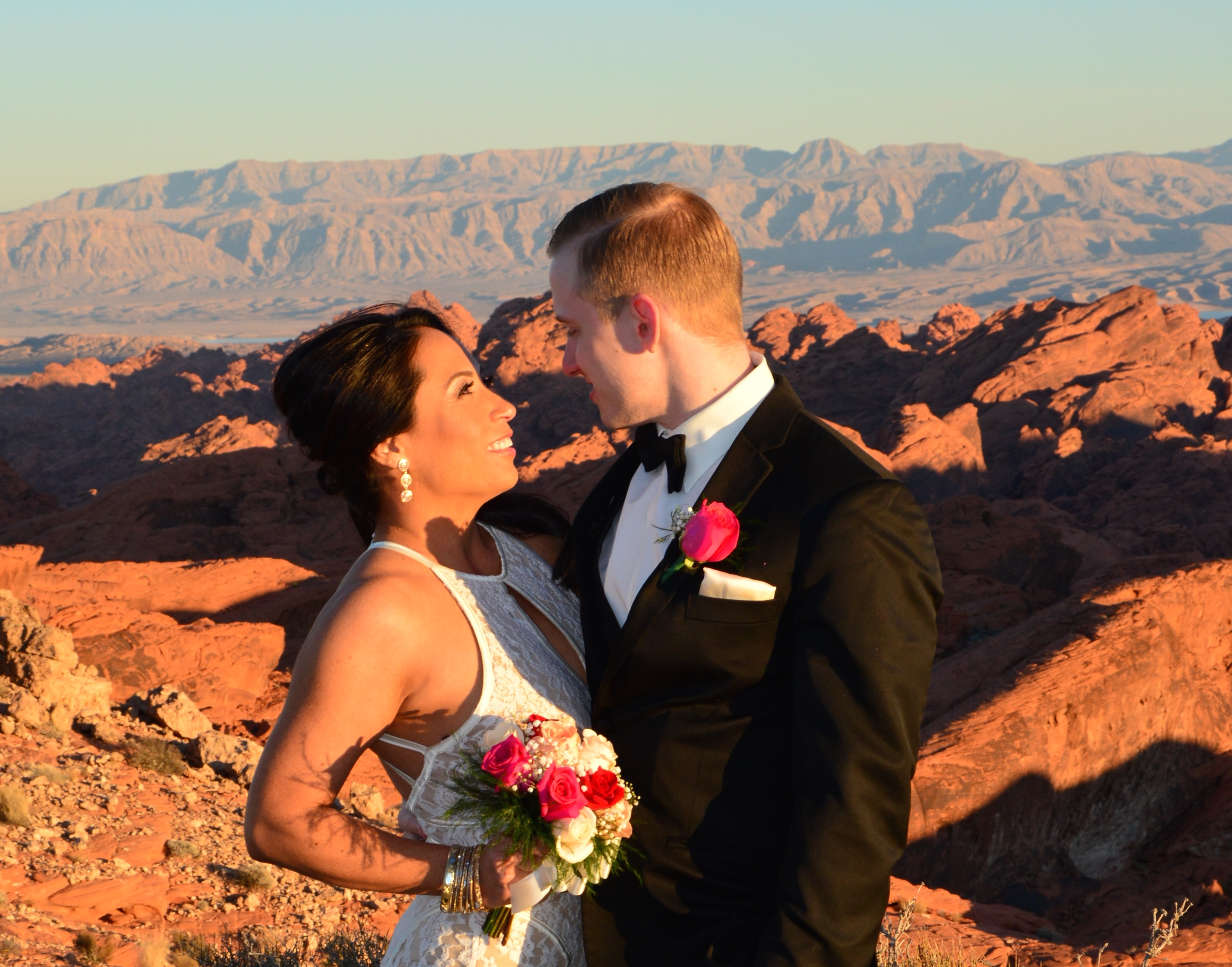 Valley Of Fire Wedding Ceremony By Helicopter