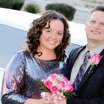 5 Star Helicopter Tours Wedding couple and limousine