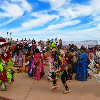 grand canyon west Hualapai Dancing at Eagle Point