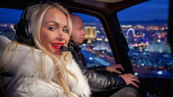 Las Vegas Strip Helicopter Tour and Dining Experience – $199
